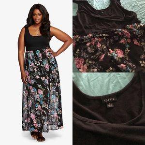 Torrid size 4 maxi dress